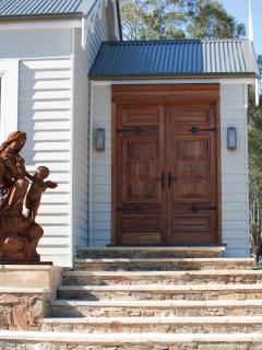 Entry to the Art Studio Rocky Hills Retreat