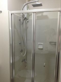 Hot water shower area