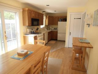 Fully Equipped and Bright Kitchen, Sliders to Deck, Ceiling Fan