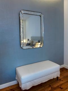 Bedroom 1 detail: an original antique Venetian mirror :)