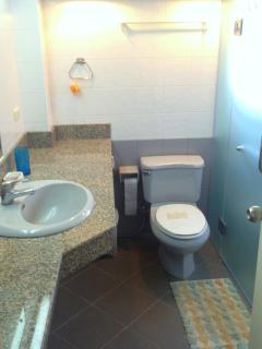 Small bathroom downstais, 2 more upstairs
