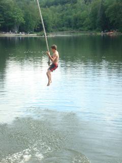 Rope Swing on Minerva Lake