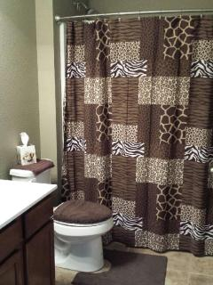 Main Bath off of Great Room with tub/shower combo.