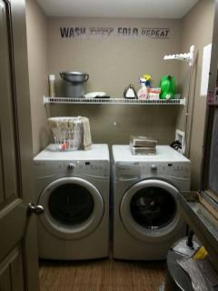 Laundry Room off of Great Room; full sized washer and dryer.