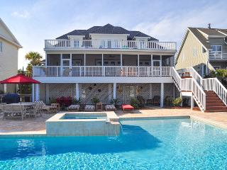 Oceanfront Home with Huge Pool, Spa, Screen Porch and Private Beach Access!