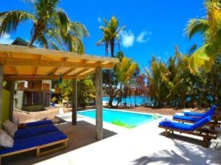 A modern, chic, eco 4 bedroom house with a swimming pool on the white sands of a beautiful Caribbean beach, 4 expertly decorated bedrooms, beach hut with speakers and kitchen bar.(v), Port Elizabeth