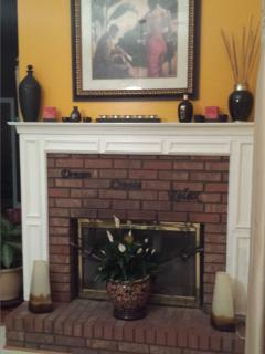 Cozy Double Fireplace view