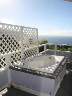 Soaking tub for each cottage in privacy (no jets)