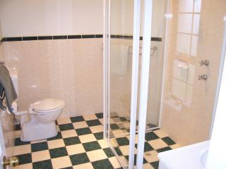 Ensuite bathroom with shower, vanity and WC