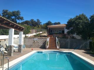 Confortable y bonito chalet a 15 minutos de Sevilla con 4 dormitorios para 8  o  10 ocupantes, con gran piscina privada