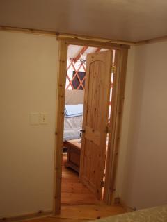 view from yurt bedroom
