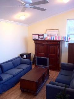 Detached Studio / Game Room:  Foosball, Darts, Bocce Ball, DVD & overflow sleeping for 5 guests.
