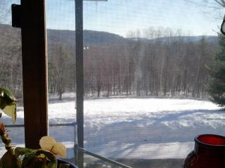 View from the dining room.  The sunrise over those mountains is gorgeous.