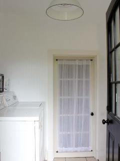The Carriage House laundry room