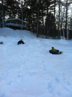 Your own tubing park in winter.