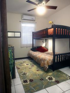 second bedroom- Twin mattress over full size futon bunk bed