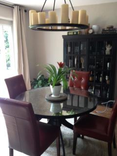 Open plan brings the living room thru the dining room out double French doors to a spacious garden