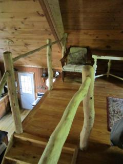 Black locust stair hand rails...