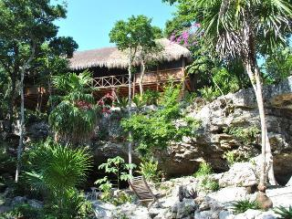 Palapa In Cenote Balam-Ha