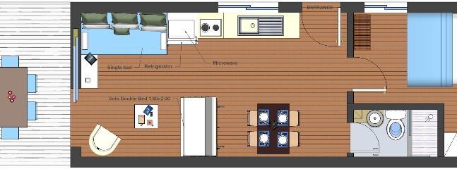 Floor plan - Vacation beach  Apartments- Kiveri village close to Nafplion