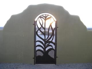Front gate, desert view