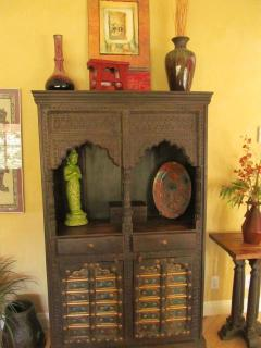 East Indian Hutch in formal living room