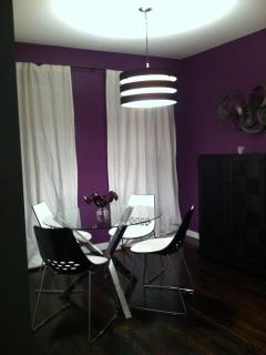 Dining area in left unit