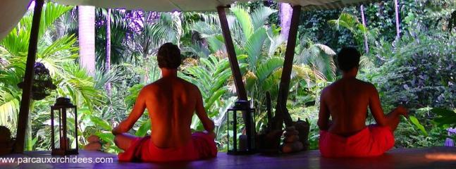 dans l'espace détente, massages
