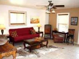 Salle de séjour avec un futon double taille
