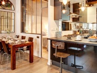 Parisian Terrace Apartment Paris apartment 2nd arrondissement, 2 bedroom short term rental Paris, central Paris flat to let, holiday rental Paris