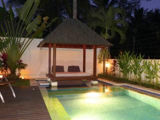 Plunge pool and bale by night