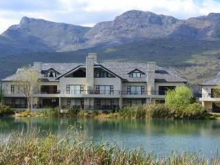 Golf Safari SA Lodge as seen from across the water