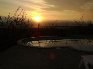 Pool view at sunrise