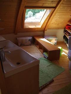 Upsstairs Bath with shower