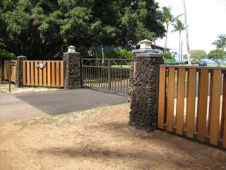 nouvelle entrée privé fermé