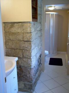 Downstairs washroom with shower