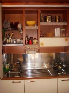 Kitchenette open
