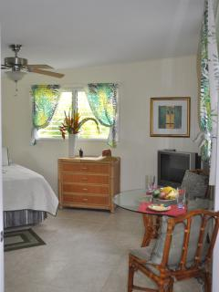 Windows surround Suite Aloha allowing in sunshine and breezes.
