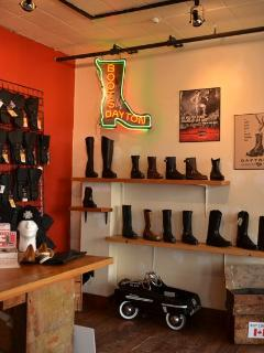 Local shoe and boot maker of some renown, excellent quality leather goods
