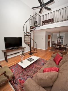Living Room and staircase to Loft