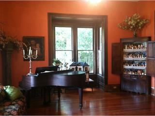 Living Room with piano