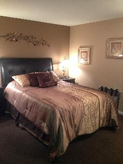 Queen size bed with pillow top mattress!