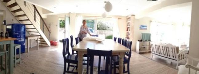 panorama view of open plan dining area