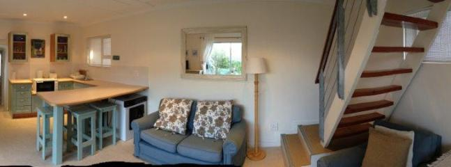 panorama view of living area of the annex
