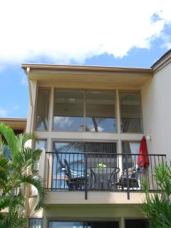 Front of condo facing beach