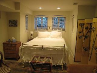 Spacious studio near Metro, private entrance, kitchen, foldout sofa