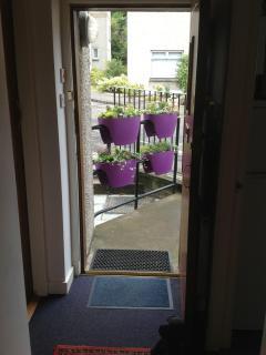 small private patio area