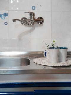 Kitchen is also equiped with stove and refrigirator which is excellent for self-catering guests.