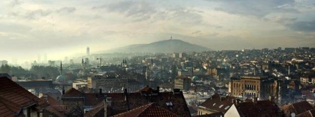 Sarajevo panorama from our garden.