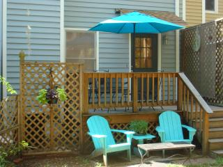 Back patio and deck